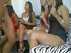 Drunk girls sucking the cocks