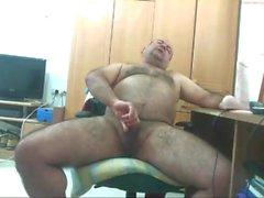 Fat hairy daddy bear cum