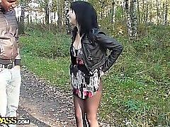 Calientes tomar follando por el bosque de