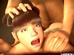 Asiatischen 3d Mädchen bekommt tiefe von hinten gefickt