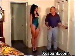 Sexy Bondage Hoe Espancado descontroladamente