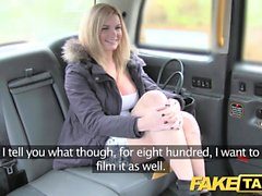 Fake Taxi huge natural tits on blonde model who rims