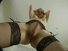Blonde Tgirl Big Cock дергая
