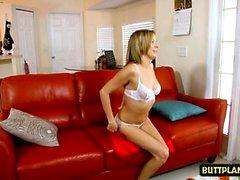 Hot Pornostar Handjob mit Cumshot