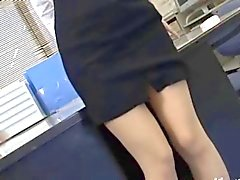 Secretaria asiática partir Tokio leche vagabundo