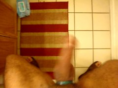 Bathroom play with Jerk off at the end