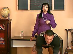 slave boyfriend gets strapon