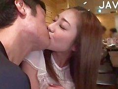 Asian Girl Gets Licked In Public