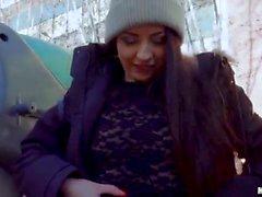 Rebecca Volpetti Italienska Cutie Rides Dick i skolan