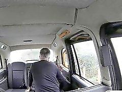 Reizvolles Amateur blonde Beifahrer bei hartem Analsex im Führerstand