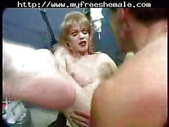 Hot sex with vintage tranny in a prison