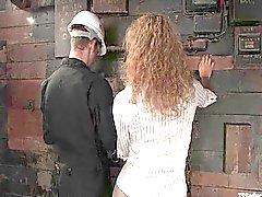 gia darling fucks elevator repairman!