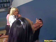 Diana Doll and Carolyn Reese love gloryhole action