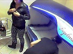 Mirón Solario Girls - desvestirse Nude cámaras escondida