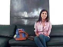 Gorgeous arab girl does a casting