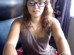 Ich shagged meine kleine Dildo auf Webcam