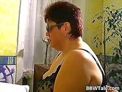 Kinky seks spel met geile BBW slet en haar gynaecoloog