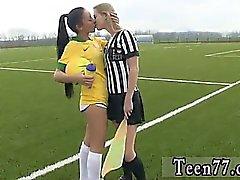 Brazilian player smashing the referee