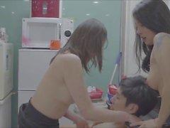 Hanna ve Seo Won - Salondaki Cinsellik