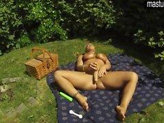 Dans mon masturbation dans un parc public