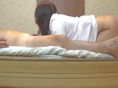 Active nurse's back style sex creampie
