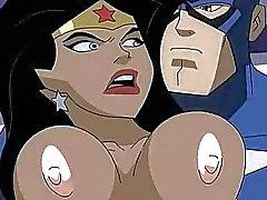 Супергеройское Porn Чудо-женщина С. Капитаном Америкой