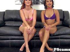 Livechat babes Karlie Montana Mia Austin lick