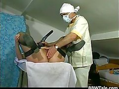 Fat old slut got tortured by horny doctor
