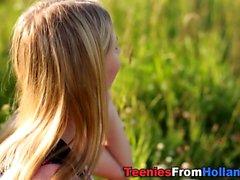 Senderismo adolescente holandés jizzed