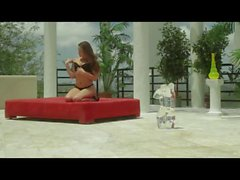 Dani Daniels and Malena Morgan outdoor lesbian fun