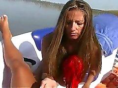 Girl Wearing Bikini On A Boat Gives A Satisfying Handjob