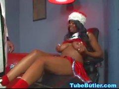 Black miss Santa