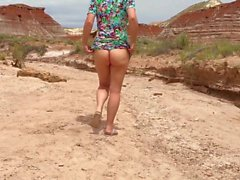 Сексуальная жена мигает в Западной Америке