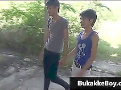 Homosexuell Asiaten in Dreier Porn Video