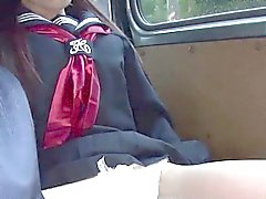 Asiatische Gymnasium Teenager färbt Pussy