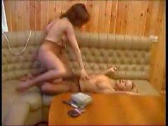 Lena and Masha. 2 whores stocking lesbian show