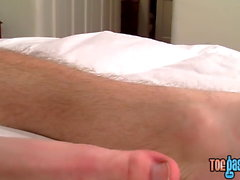 Handsome young dick rider shows feet and jerks off