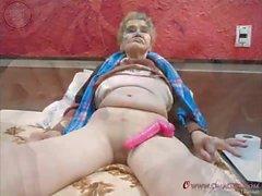 OmaGeiL Amateur Granny bildspel Foto Collection