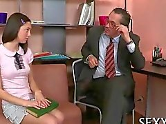 Horny teacher seducing a teen eager to fuck him