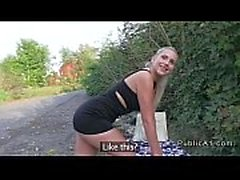 Perfect ass tschechische Blondine gefickt outdoor pov