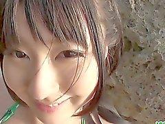De Megumi Timmy joven que trabajo a mano asia y de blowjo