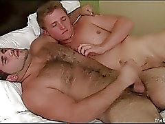Blonde gay boy has wild sex with his mature gay lover