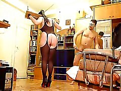Das Joch pillory und dentale gag Spaß für der Peitsche Tanzen Slut TRAILER