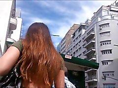 De Upskirt pendeja de Argentina gris de culotte