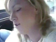 Amateur blowjob in car
