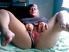 Güzel ayak onu Pussy Mastürbasyon ile Tombul Ex Girlfriend