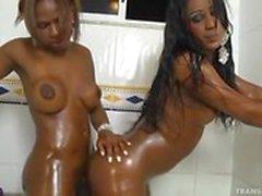 Couple of Brazilians Black Shemale