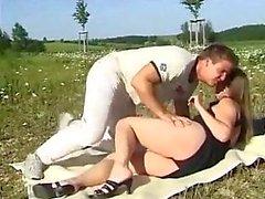 Hot Duitse Paar Openlucht