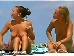 Exposed Voyeur Cam in a nudist beach