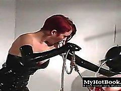 BDSM mistress and her sex slave